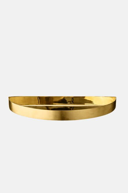 Поднос UNITY half circle tray small gold | AYTM