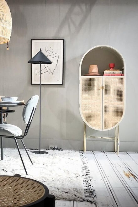 Шкаф Retro Oval Cabinet | HKLiving