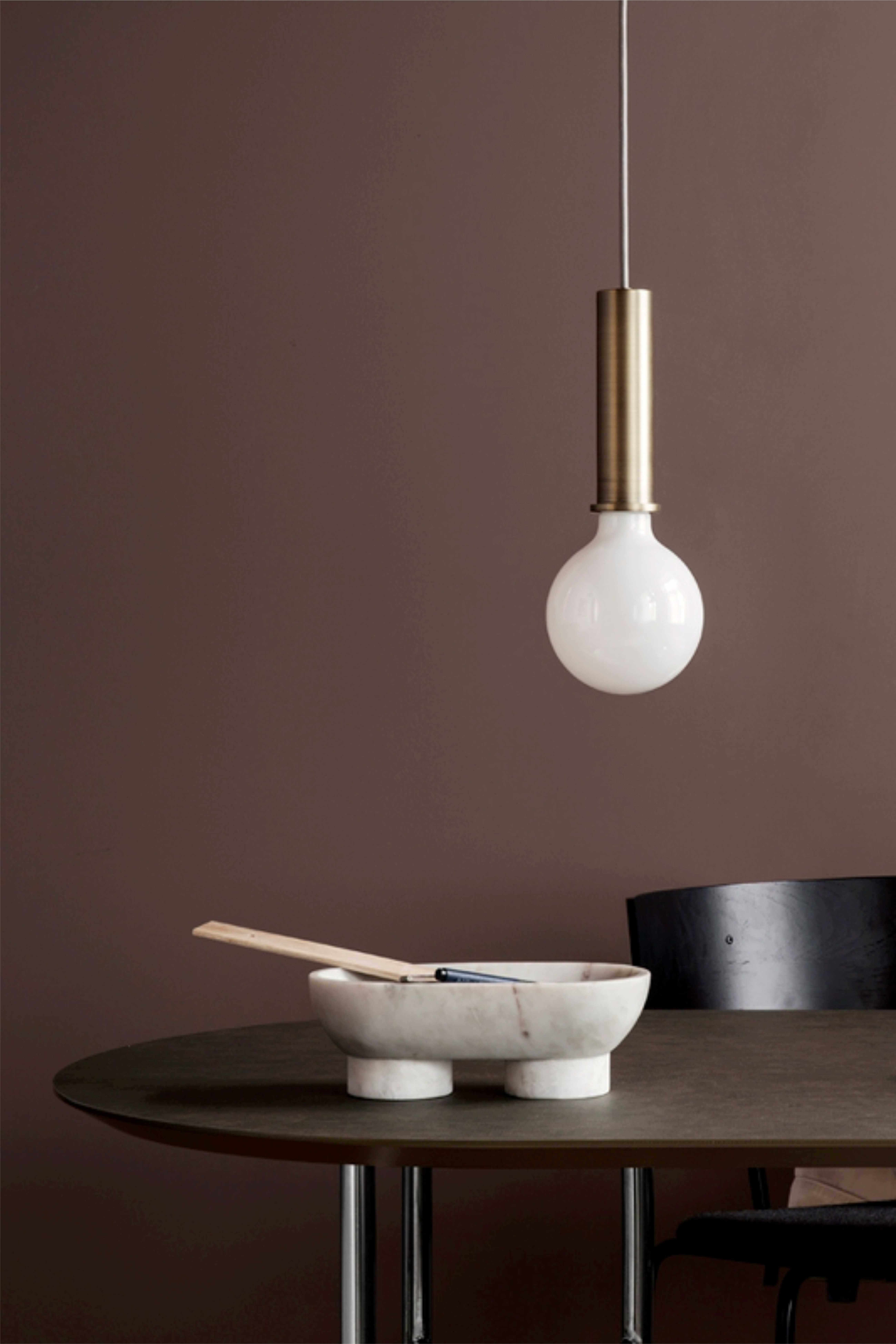 Мраморная чаша Alza Bowl white | FERM LIVING