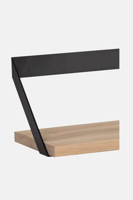 Полка Oak Ribbon shelf black | ETHNICRAFT
