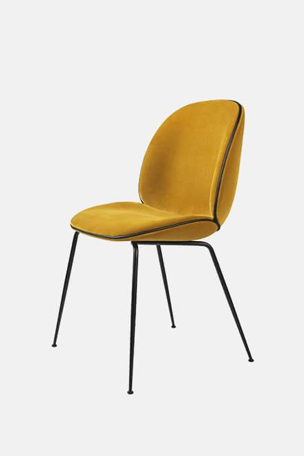 Стул Beetle Dining Chair Yellow | GUBI